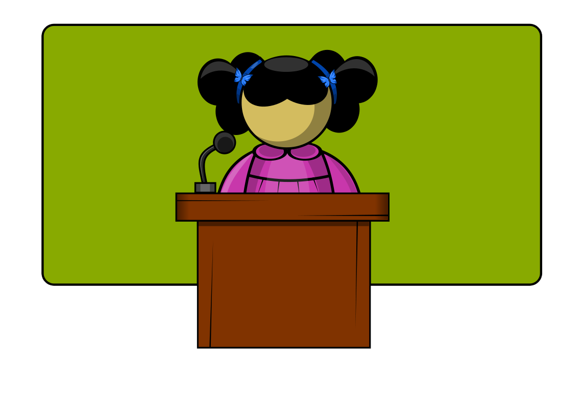 clip art black and white library Public Speaking Contest Clipart