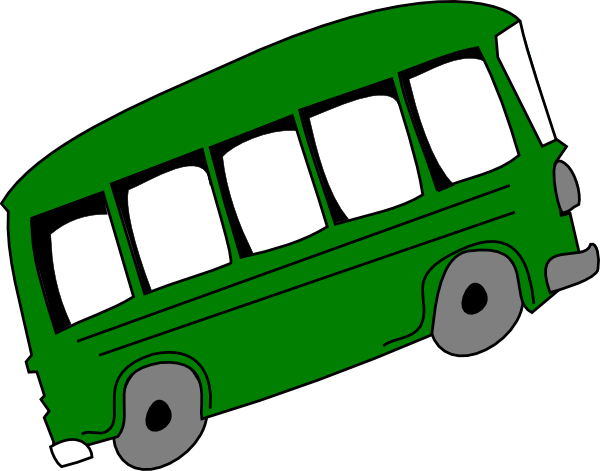 graphic freeuse stock Green Bus Clip Art at Clker