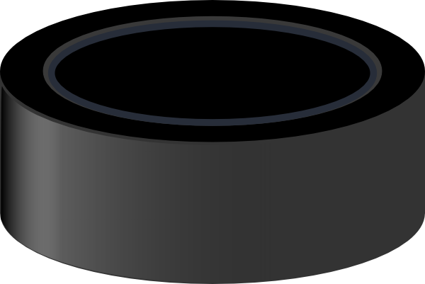 black and white Hockey Puck Clipart