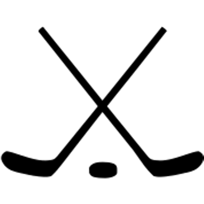 vector royalty free stock Crossed Ice Hockey Sticks and Puck Clipart transparent PNG