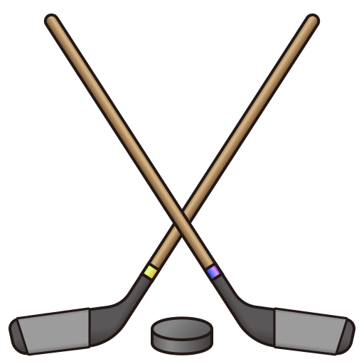png royalty free library Ice Hockey Stick And Puck Emoji for Facebook