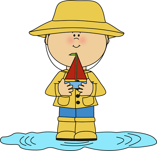 svg library download Puddle clipart. Boy in rain with.