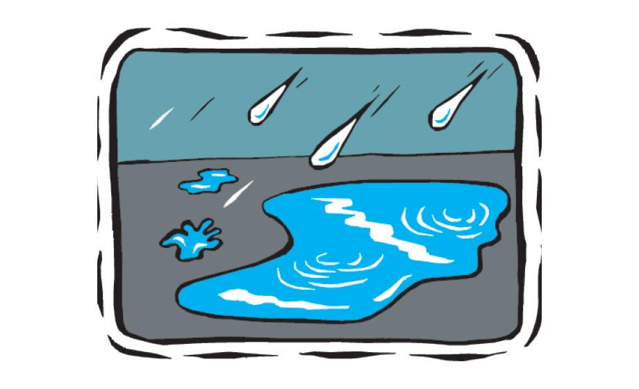 transparent download Water game rain cartoon. Puddle clipart.