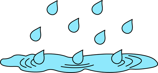 graphic black and white Puddle . Rain clipart