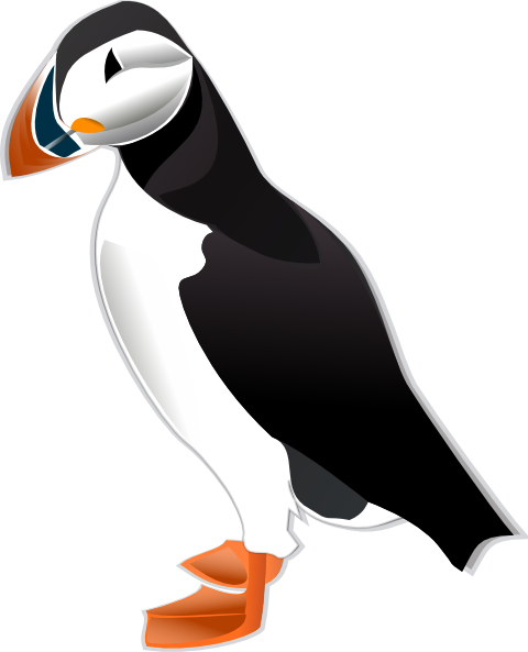 svg Flying Puffin Drawing