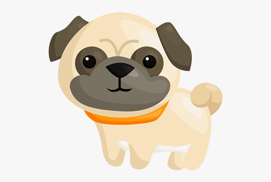 vector transparent library Pug clipart. Puppy dog emoji clip.