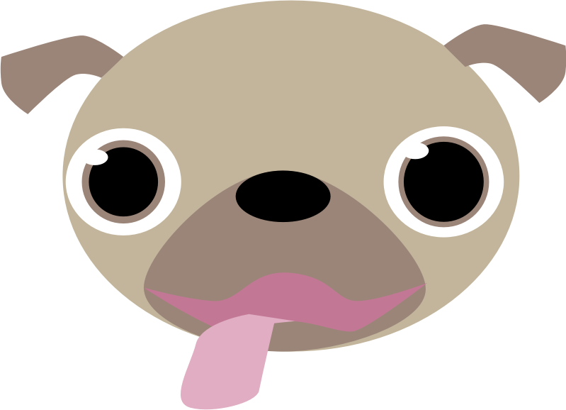 vector free library Face medium image png. Pug clipart.