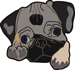 picture free library Cute small image png. Pug clipart.