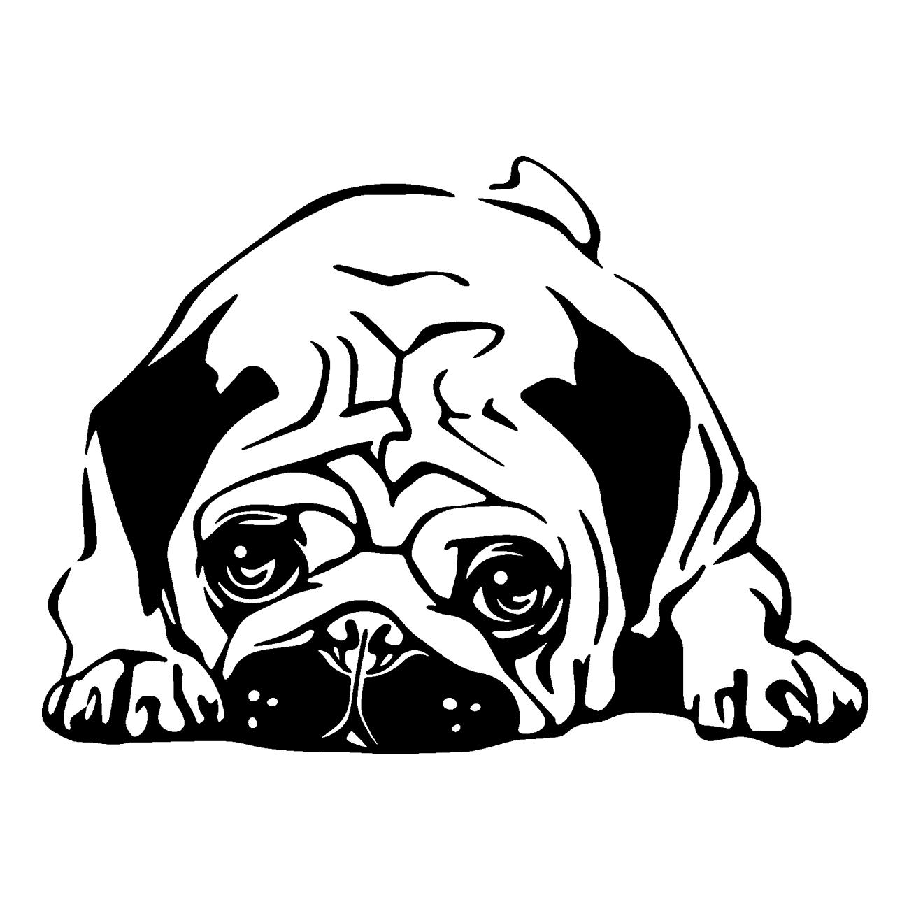 jpg black and white stock Vinilo Bulldog Cachorro