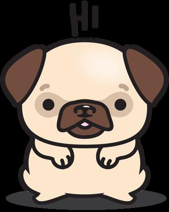 svg transparent download drawing chibis pug #93813752