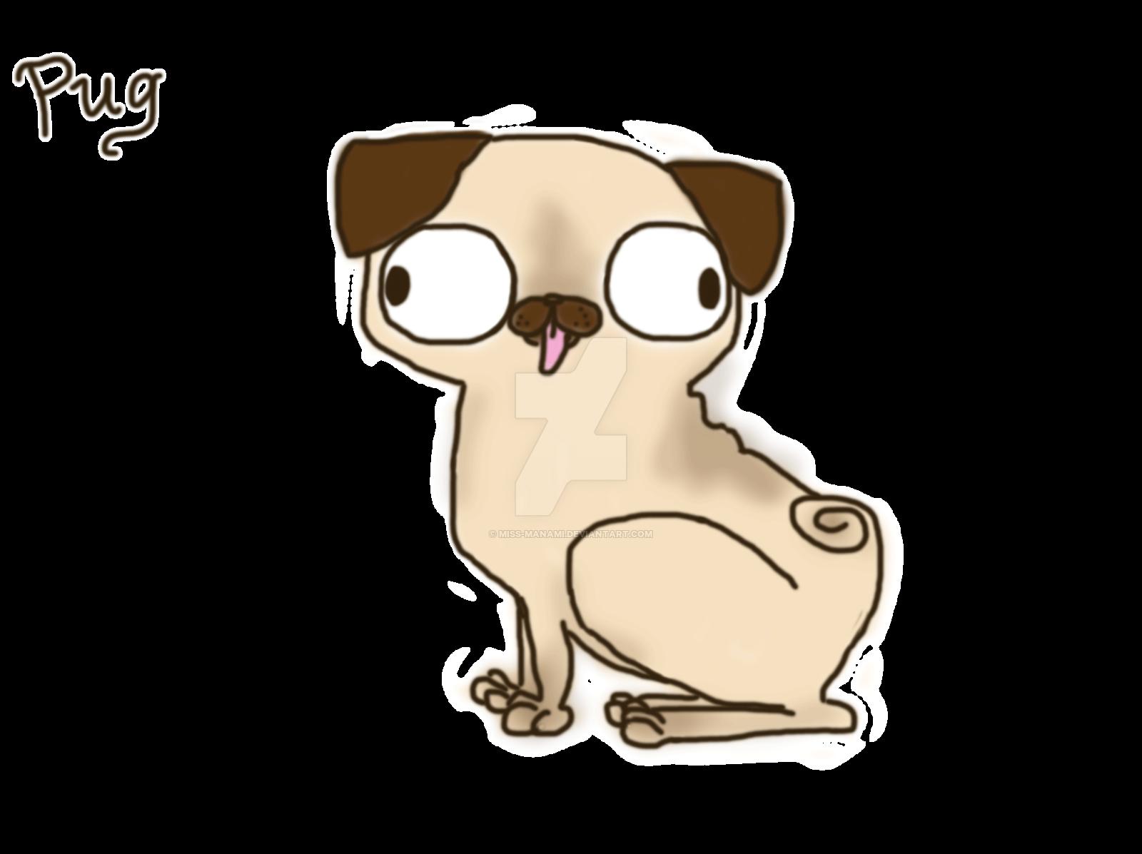 jpg freeuse Doughnut drawing pug. Cartoon at getdrawings com