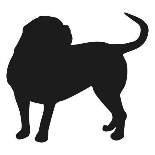 graphic free library Pug Silhouette Clip Art at GetDrawings
