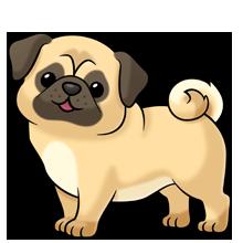 clip art transparent Pug Dog