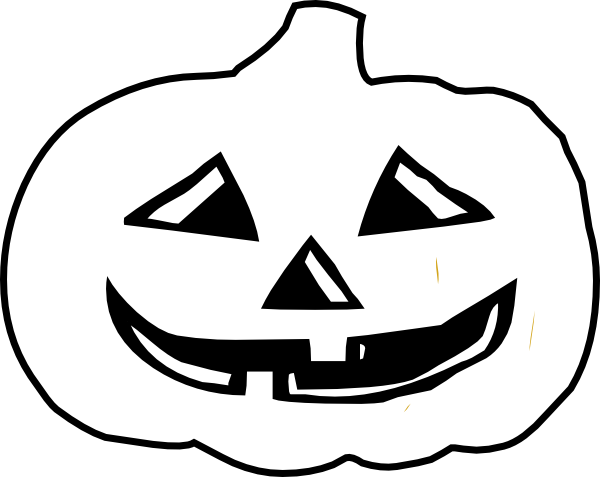 free stock Jack o lantern clipart black and white. B w clip art