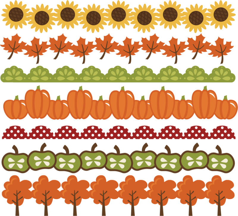 svg library download Fall borders clipart. Svg cut files autumn.
