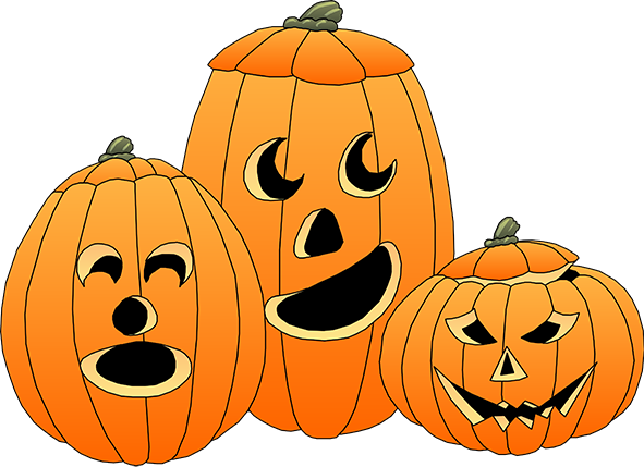 clipart black and white stock Happy Halloween Clipart