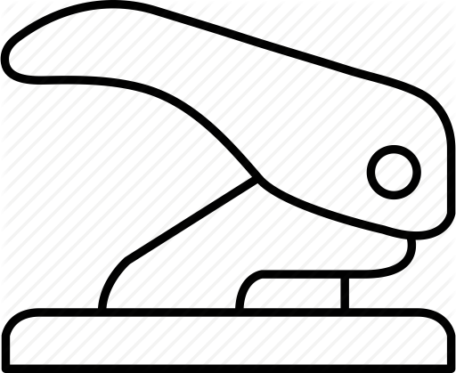 vector black and white stock Stationary
