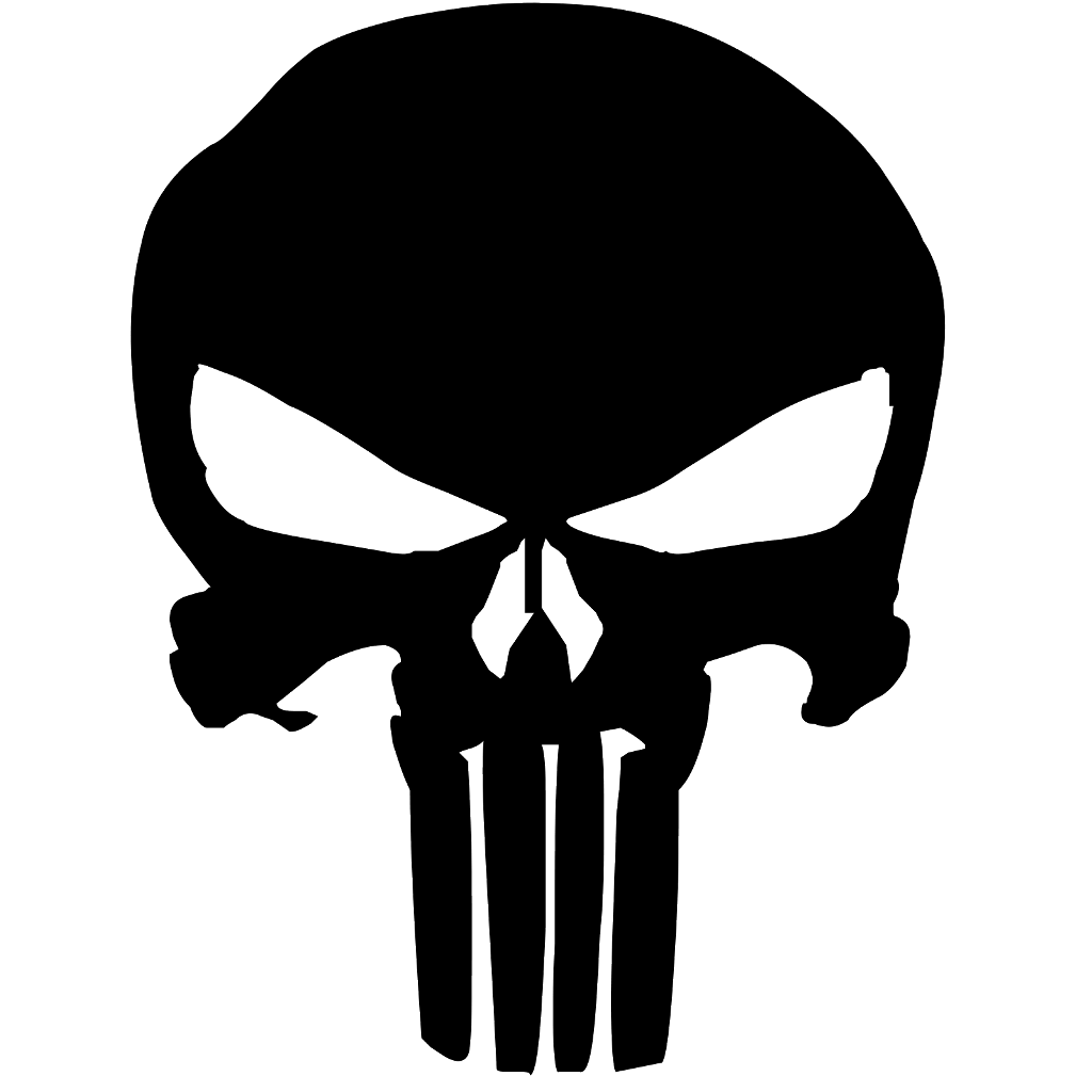 clipart download punisher skull logo black