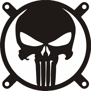 graphic transparent stock The Punisher Logo Vector