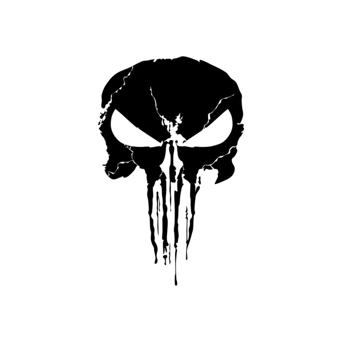 clip stock Superhero graphics design svg. Punisher vector