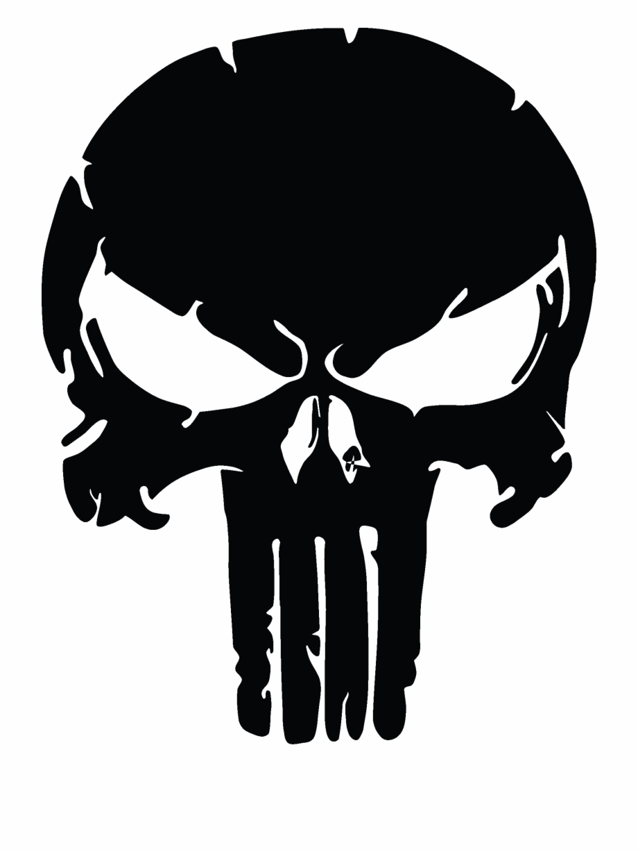 clip black and white download The skull distressed vinyl. Punisher vector