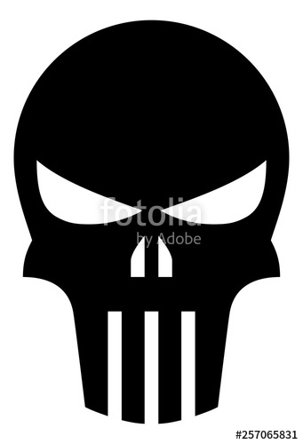 picture royalty free Skull icon stock image. Punisher vector