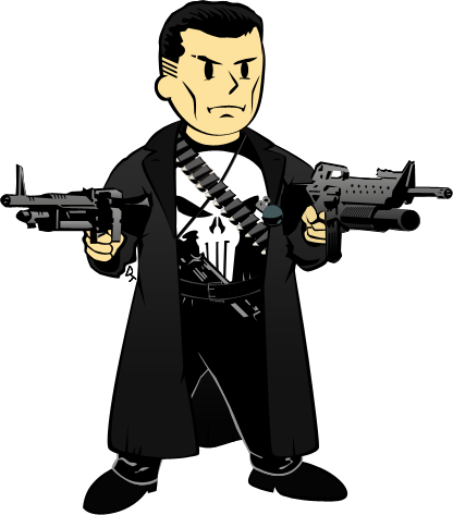 clipart royalty free stock Vault Boy Punisher by forArkan on DeviantArt