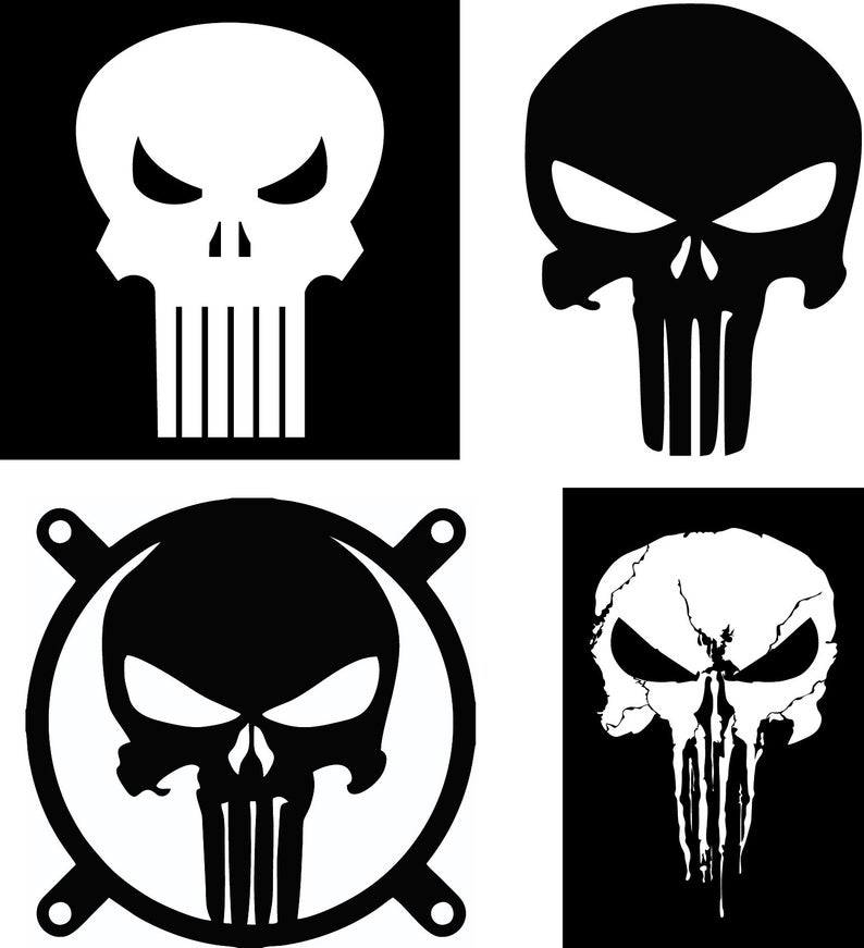 vector freeuse library Punisher in SVG
