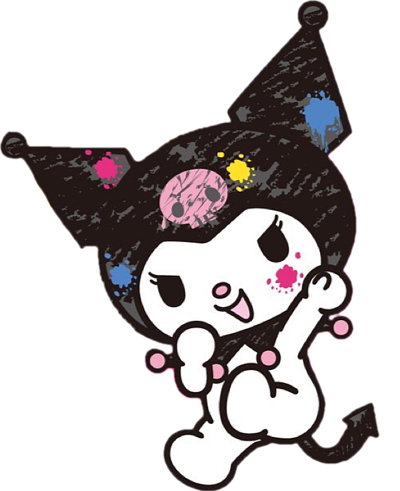 vector download printing sanrio kuRumi punk cute mymelody draw colorspl