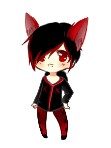 graphic transparent stock Neko Red punk