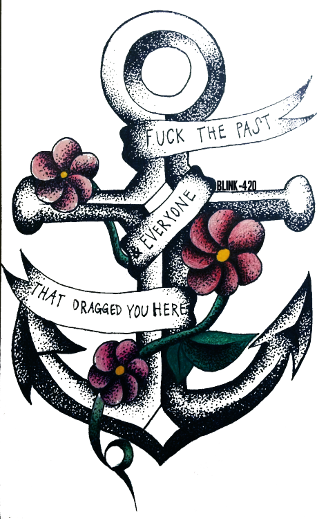 banner library download drawing art mine tattoo flowers pop punk real friends floral anchor