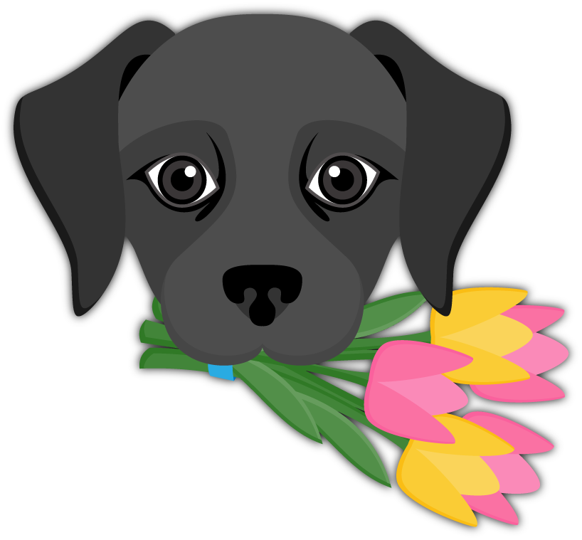 banner freeuse stock Black Labrador Emoji