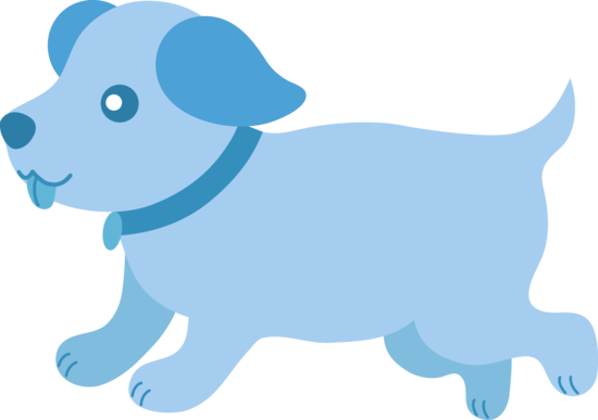 transparent Baby Blue Dog Clipart