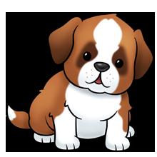 vector library Saint bernard dog lots. Puppy clipart.