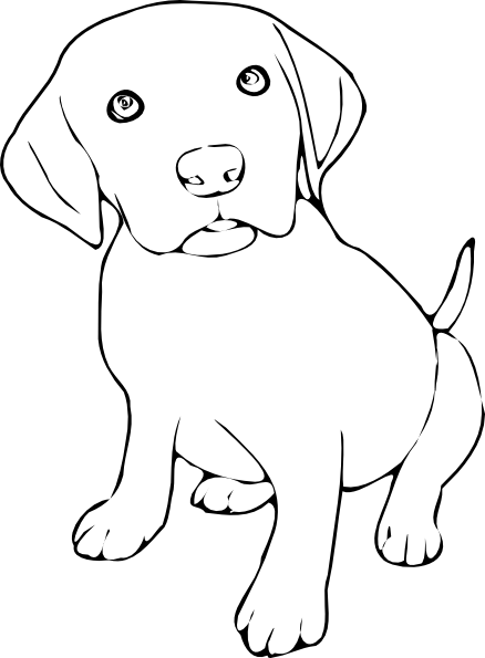 free Clip art at clker. Lab puppy clipart