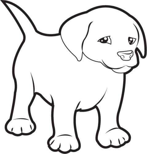 banner free library Free black and white. Lab puppy clipart