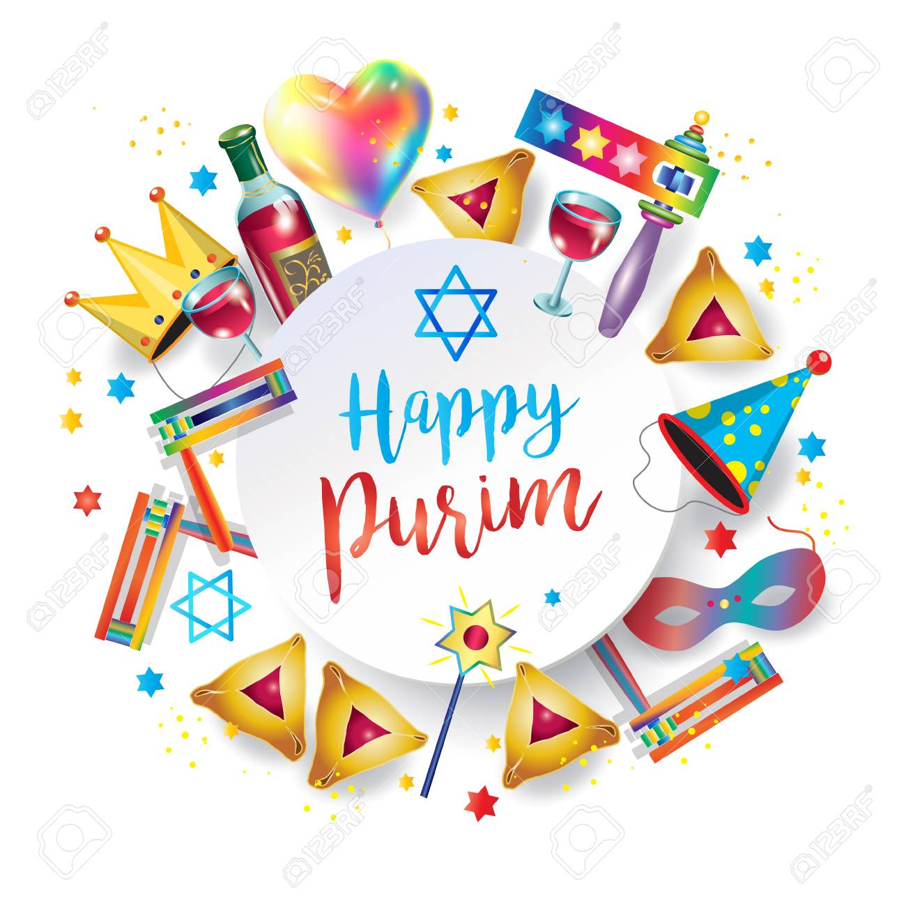 vector freeuse stock Purim clipart. Happy station