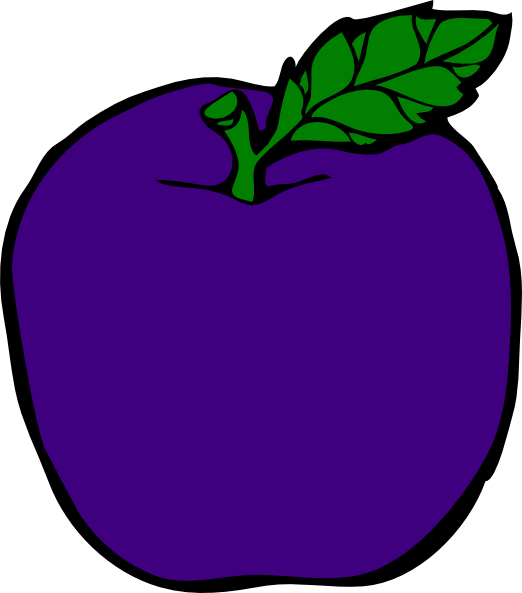 banner download Purple Apple Clip Art at Clker