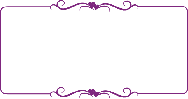 graphic free stock Decorative clip art at. Purple border clipart