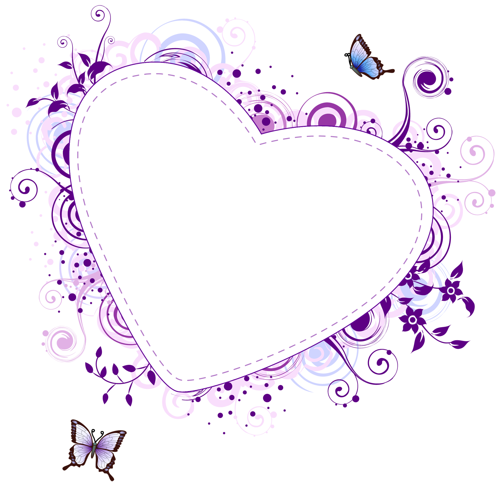 clip art free library Heart borders and frames. Purple border clipart