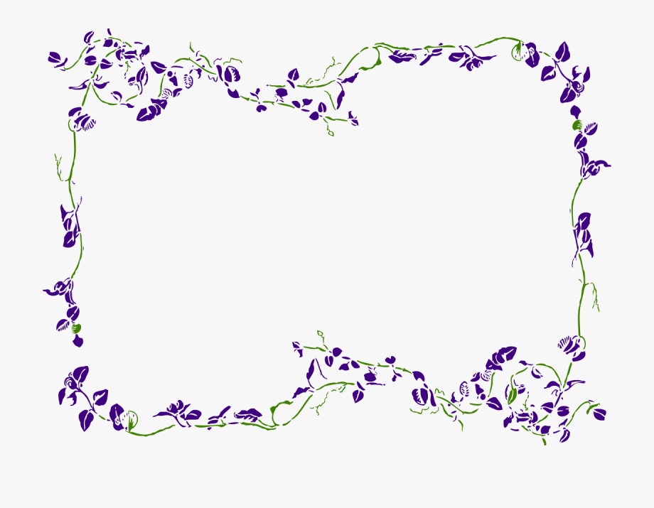 picture free download Purple border clipart. Png transparent floral