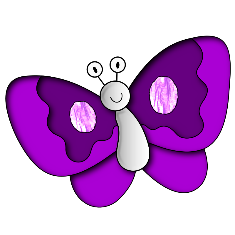 vector freeuse stock Butterfly clip art free. Purple butterflies clipart.