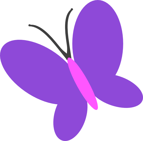 clip art transparent download Purple Butterfly Clip Art at Clker