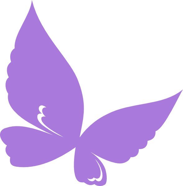 jpg royalty free library Purple Butterfly Border Clipart