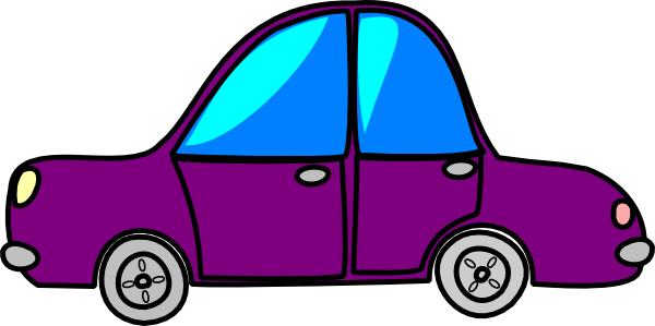 clipart freeuse library Purple Cartoon Car Clipart