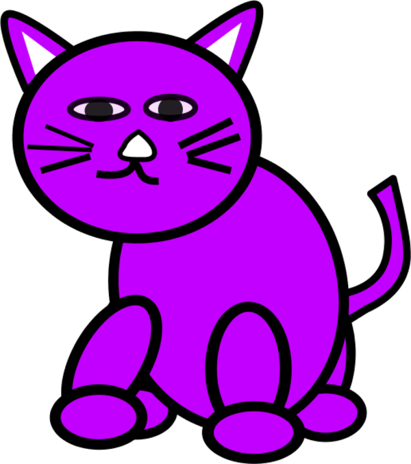svg transparent Purple Cat Clipart