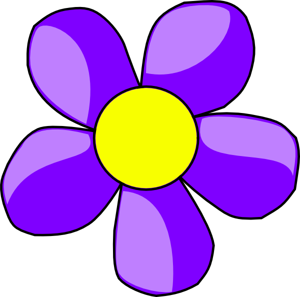 image freeuse stock Flower clip art at. Purple clipart.