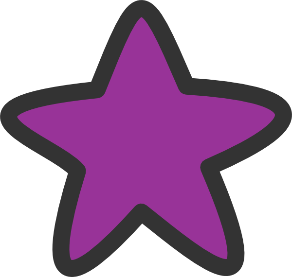 banner library Purple clipart. Star for starry clip.