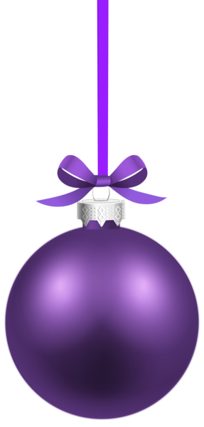 clip transparent download Purple Christmas Hanging Ball PNG Clipart Image