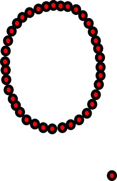 graphic black and white library Necklace Clip Art at Clker
